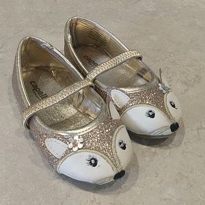 Toddler Size 5 Capelli Gold Fox Dress Shoes